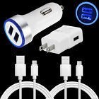 For ZTE Blade X/Z Max XL SPARK Google Pixel 3 2XL LED Car Wall Charger 6FT Cable