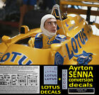 LOTUS 99T CAMEL 1987 + Senna water slide DECALS 1:43  F1 Car / Auto Collection