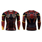 Men Marvel Superhero Compression Workout Long Sleeve T-shirt Gym Sports Party