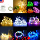 50/100 Led Battery Fairy String Lights Silver Rice Wire Party Xmas Wedding Decor