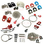 Tow Trailer Hitch Hooks Shackle Chain Wire Rope RC Accessory For TRX-4 SCX10 D90