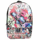 The Avengers Superhero Backpack Schoolbag PU Leather Laptop Bag Fans Cos Gift