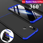 360 Full Cover Shockproof Hybrid Hard Case+Film For Xiaomi Redmi Note 6 5 Pro