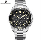 Men's military stainless steel Analog movement quartz watch iced out watch blue
