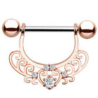 Crystal Steel Ball Tongue Nipple Barbell Rings Bar Body Jewelry Piercing 14G PL