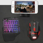 Mechanical one-handed keyboard Rainbow Backlight Mouse Wired USB PC Laptop Game