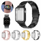 Stainless Steel Band Strap + Case Cover For Apple Watch Series 4 3 2 40mm 44mm image