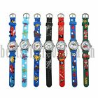 Cute Cartoon Pattern Watches Children Kids Boys Quartz Analog Wrist Watch Xmas image