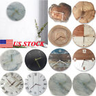 Small Wall Clock Big Watch Decal 3D Stickers Roman Numerals DIY Wall Modern Home