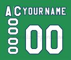 Hartford Whalers Customized Number Kit for 1985 1988 Green Jersey