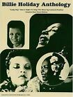 Billie Holiday Antholog-Lady Day Had a Right to Sing the blues sheet music book
