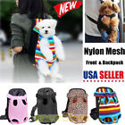 Внешний вид - Nylon Mesh Pet Puppy Dog Cat Carrier Backpack Front Net Bag Tote Sling Carrier