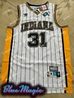 New Reggie Miller Throwback Swingman Jersey #31 Indiana Pacers Mens USA S-XXL