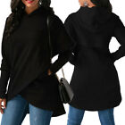 Women Long Sleeve Hoodie Sweatshirt Sweater Hooded Jumper Coat Pullover Tops USA