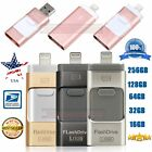 32 64 128 256GB i Flash Drive For iPhone Android OTG USB 2.0 Memory Stick KY USA