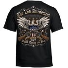 T Shirt Bike 2nd Amendment Rider Biker Tattoo Skull Motorcycle no Harley image