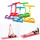 US 4-Tube Foot Pedal Pull Rope Resistance Exercise Yoga Equipment Sit-up Fitness image