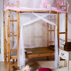 White Four Corner Post Bed Canopy Frame Mosquito Net Twin Full Queen King size image