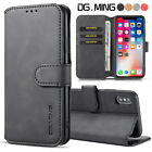Luxury Leather Wallet Case Cover Card Slots Flip Stand For Iphone Samsung Huawei