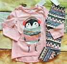Внешний вид - Gymboree 4 5 6 7 8 10 12 Winter Star Penguin Top Fair Isle Leggings NWT Outlet