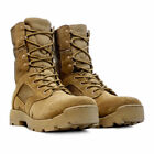 Mens Desert Leather Army Combat Military Hiking Cadet  Junglelite Tactical Boots