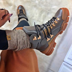 Cape Robbin COUNTRY SIDE Stone Grey Lace Up Chunky Sole Utility Sneaker Boot