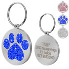 Rhinestone Personalised Dog Tags Blingbling Cat Kitten Puppy Dog ID Name Tags