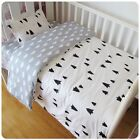 3 Pcs Cotton Crib Bed Linen Kit Cartoon Baby Bedding Set Includes Pillowcase Bed