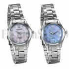 Women's Ladies Silver Tone Bracelet Rhinestone Dial Analog Quartz Wrist Watch image