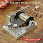 Metal Mini Music Box DIY Mechanical Hand Crank Craft Music Box Movement Decor
