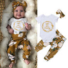 Kyпить US Newborn Baby Girl Little Sister Tops Romper Flower Pants 3Pcs Outfits Clothes на еВаy.соm