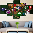 Billiards Pool Balls Cue 5 Pieces canvas Wall Art Print Picture Home Decor $69.0 USD on eBay