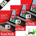 SanDisk Cruzer Fit Flash Drive 8GB 16GB 32GB 64GB USB 2.0 Memory Stick Mini USB
