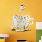 Kitchen 3d Coffee Cup Acrylic Mirror Wall Stickers Vinyl Decal Mural Home Decor