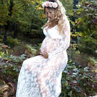 Sexy Pregnant Women Lace Maternity Long Gown Maxi Deep V Dress Photography Props