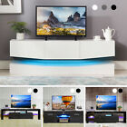 10 Types TV Stand Cabinet Console High Gloss+Tempered Glass w/Drawers & Shelves