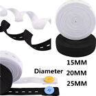 15MM 20MM 25MM White & Black Sewing Knit Buttonhole Flat Elastic Bands