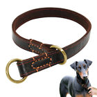 Genuine Leather Hand Crafted Slip Dog Choke Collar Boxer Pitbull Training Collar
