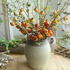 Artificial Pomegranate Berries Stems Fake Decor Plants Flower Home Wedding Decor