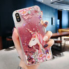 Cute Unicorn Dynamic Liquid Glitter Fashion Phone Case Cover For XIAOMI MEIZU
