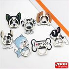 French Bulldog Puppy Pop Metal Finger Ring Mobile Phone Stand Holder Husky Dog