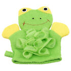 Baby Cartoon Animal Design Bath Sponge Kids Shower Mitt Cute Glove Soft G