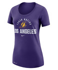 WOMENS LOS ANGELES LAKERS NBA (NIKE) DRI FIT S/S TEE T SHIRT PURPLE SIZE L on eBay