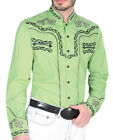Charro Shirt Long Sleeve Montenegro Camisa Charra Color Lime