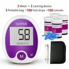 Blood Glucose Meter Kit Health Monitoring Device Medical Use With Test Strip Set