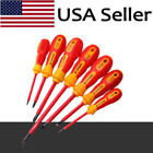 7 Size Electrical Hand Screwdriver Electrician Insulated Slotted Tool Kit Set US