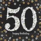 50th GOLD Celebration Birthday Party  Balloons Tableware Decorations Supplies