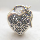 Authentic S925 Silver LOVE YOU Lock Key Sterling Silver Heart Fashion Charms