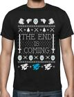 The End Is Coming Christmas Winter Dragons Ugly Sweater T-Shirt Thrones