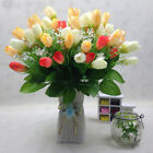15 Heads 1 Bouquet Tulip Artificial Silk Flower Wedding Party Bouquet Home Decor